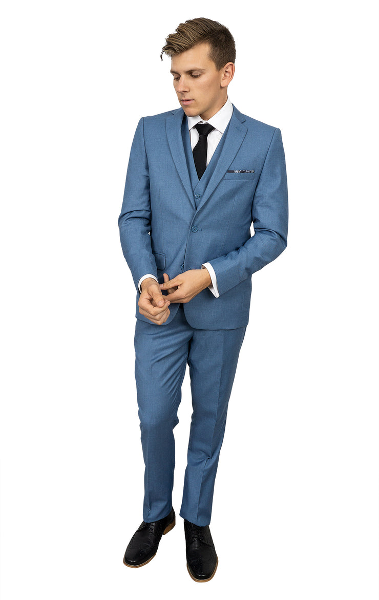 ANDERSON STEEL BLUE SUPER SLIM FIT SUIT