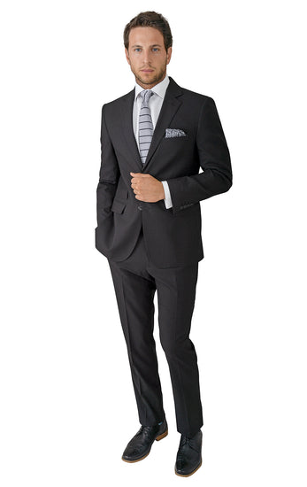 TRAVELER BLACK MODERN FIT SUIT