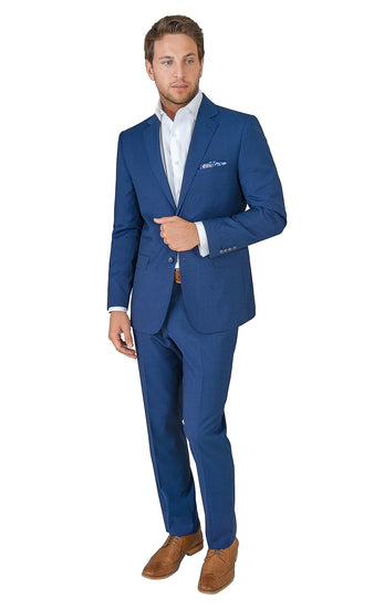 TRAVELER BLUE MODERN FIT SUIT