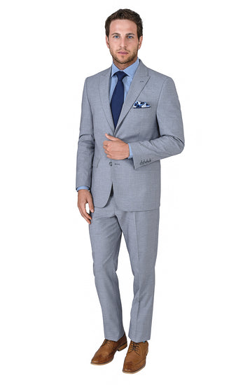TRAVELER GREY MODERN FIT SUIT