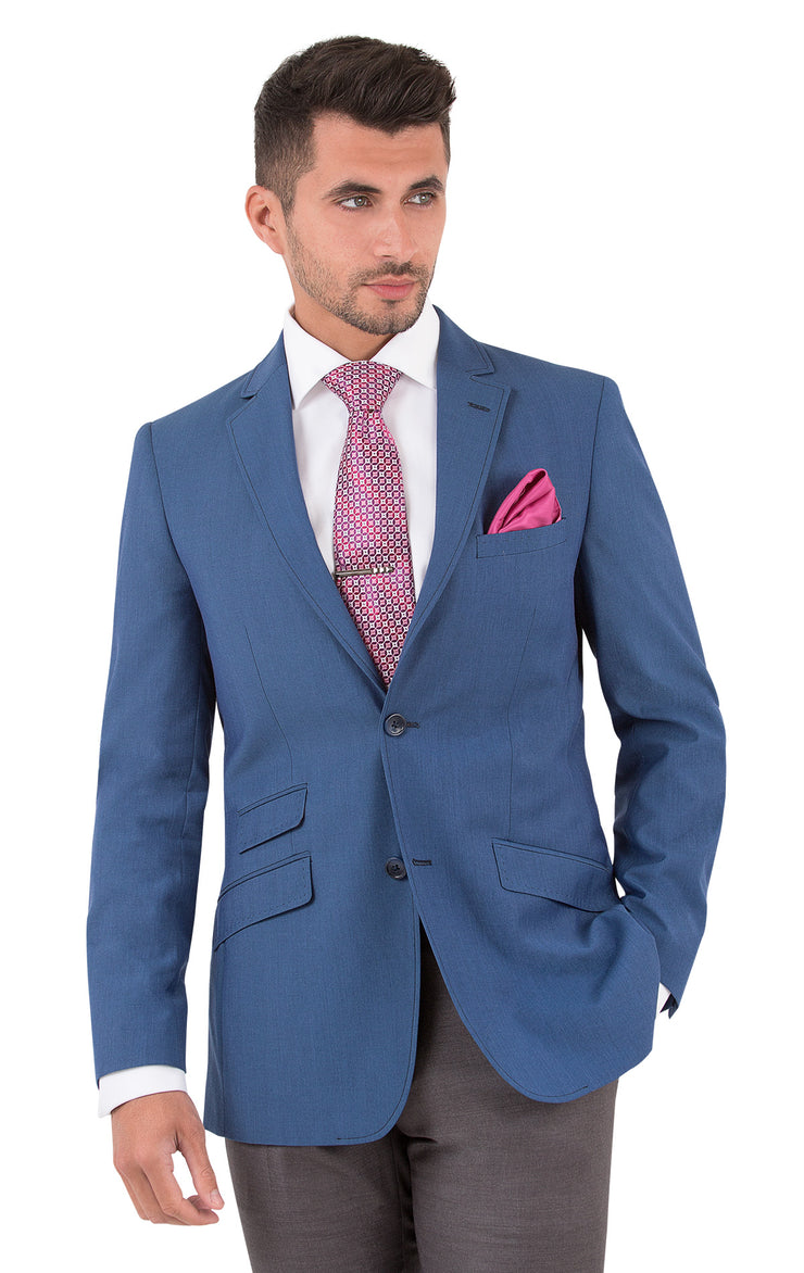 BARCELONA BLUE SLIM FIT SUIT JACKET