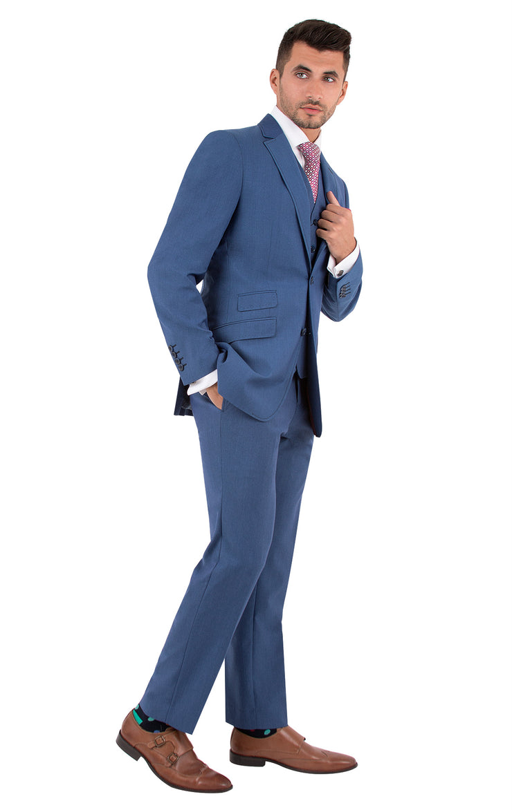 BARCELONA BLUE SLIM FIT SUIT