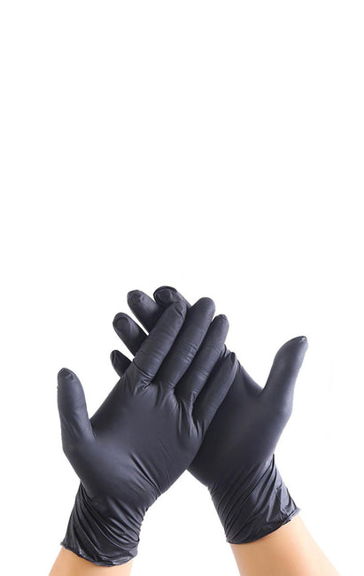 Black Nitrile Disposable Gloves - 100 pcs