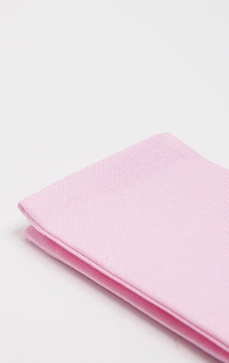 PINK OXFORD POCKET SQUARE