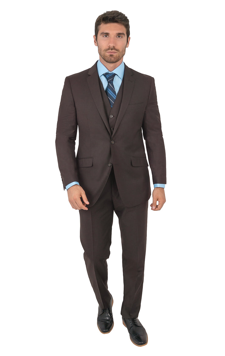 PIERCE BROWN TAILORED FIT 3 PC SUIT