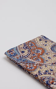 TAN/BLUE PAISLEY POCKET SQUARE