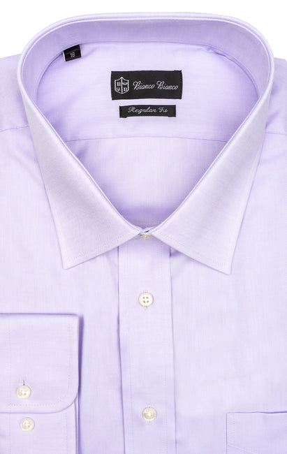 LAVENDER REGULAR FIT BUTTON CUFF DRESS SHIRT