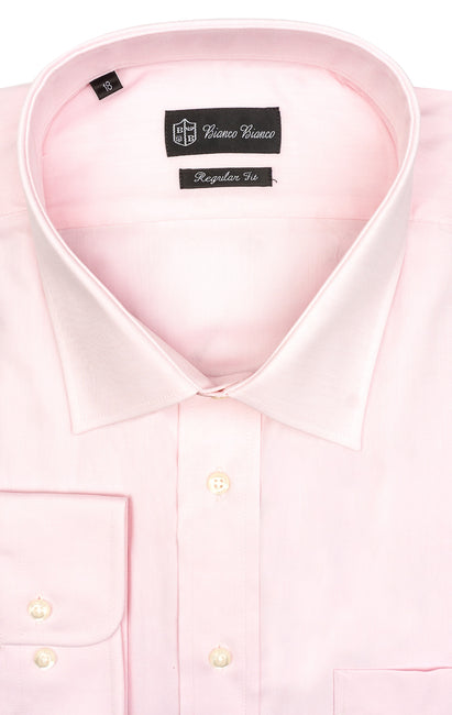 PINK REGULAR FIT BUTTON CUFF DRESS SHIRT