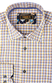 DEVIN YELLOW PLAID SPORT SHIRT