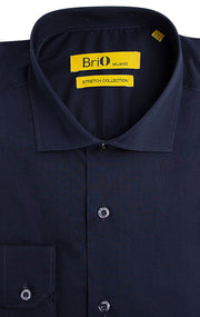 BRIO NAVY SOLID DRESS SHIRT