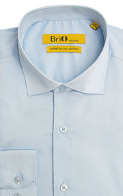 BRIO BLUE SOLID DRESS SHIRT