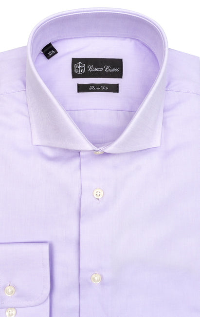 LAVENDER SLIM FIT BUTTON CUFF DRESS SHIRT