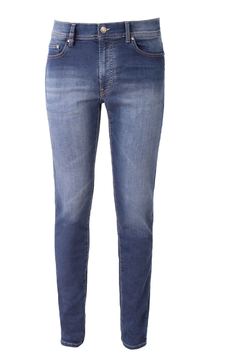 PASSPORT MEDIUM BLUE REGULAR FIT DENIM