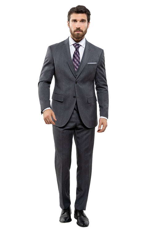 CHANDLER CHARCOAL TAILORED FIT 3 PC SUIT