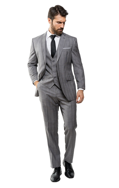 TUCKER GREY TAILORED FIT 3 PC SUIT