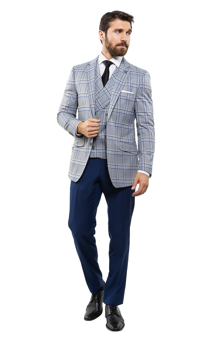 CONRAD SAPPHIRE TAILORED FIT 3 PC SUIT