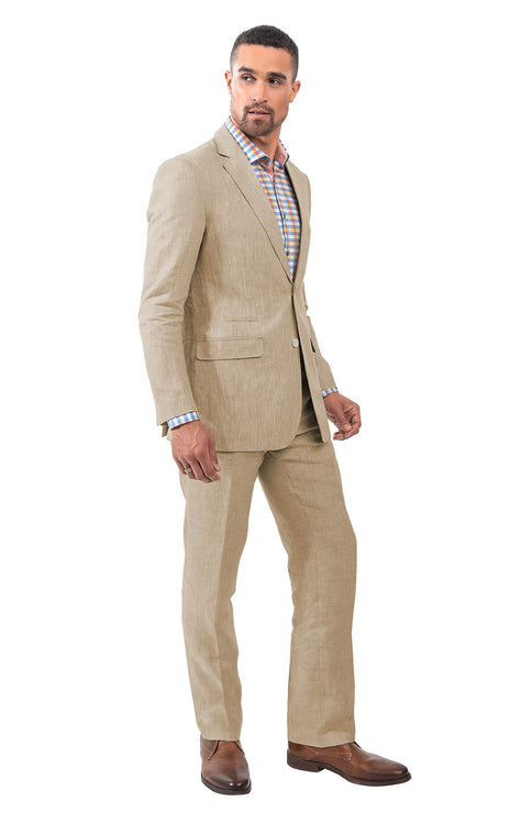 SAMUEL TAN LINEN SUIT