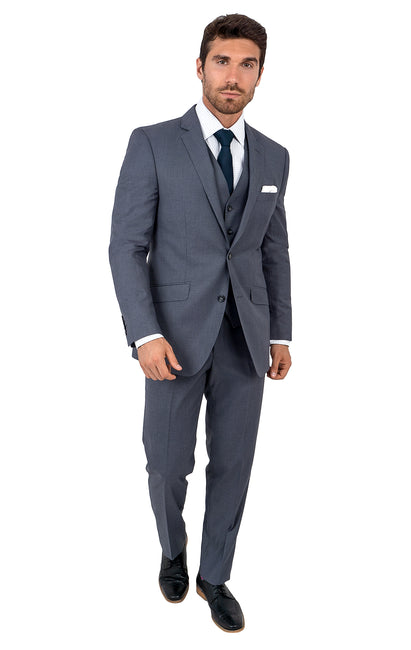 TOWNSEND CHARCOAL TAILORED FIT 3 PC SUIT