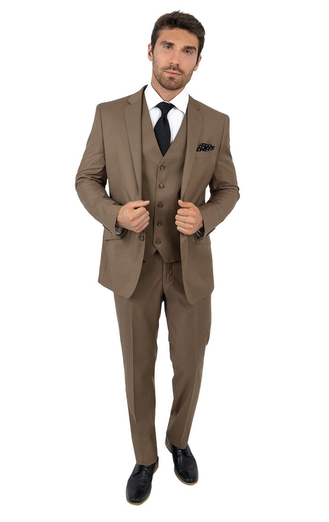 TURNER BRONZE TAILORED FIT 3 PC SUIT