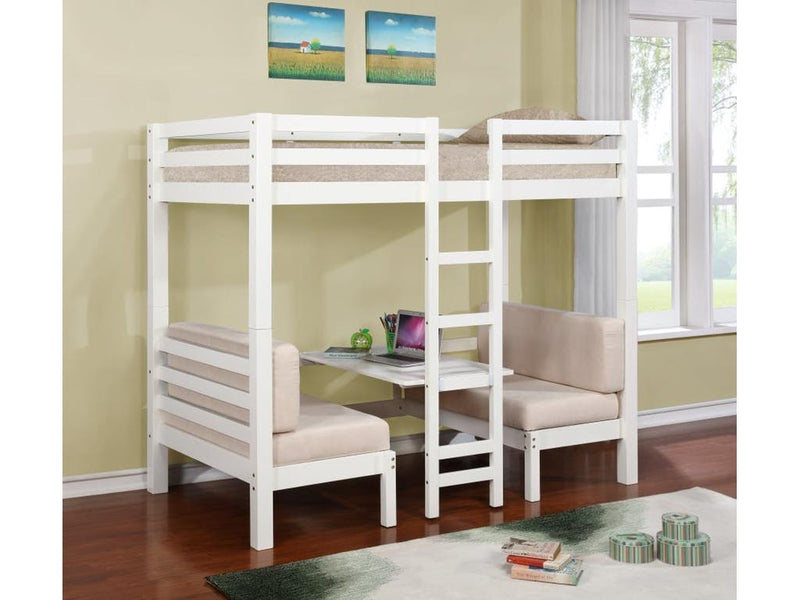 Twin Loft Bed w/Table or Seats