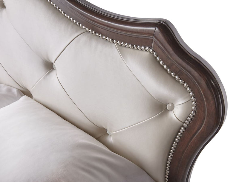 Allison bed upholstered headboard detail
