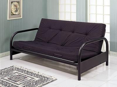 Black metal futon