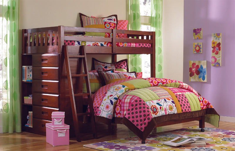Twin/Full Loft Bed in Merlot
