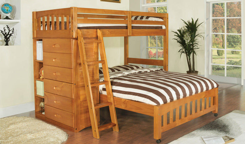 Twin/Full Loft Bed in Honey