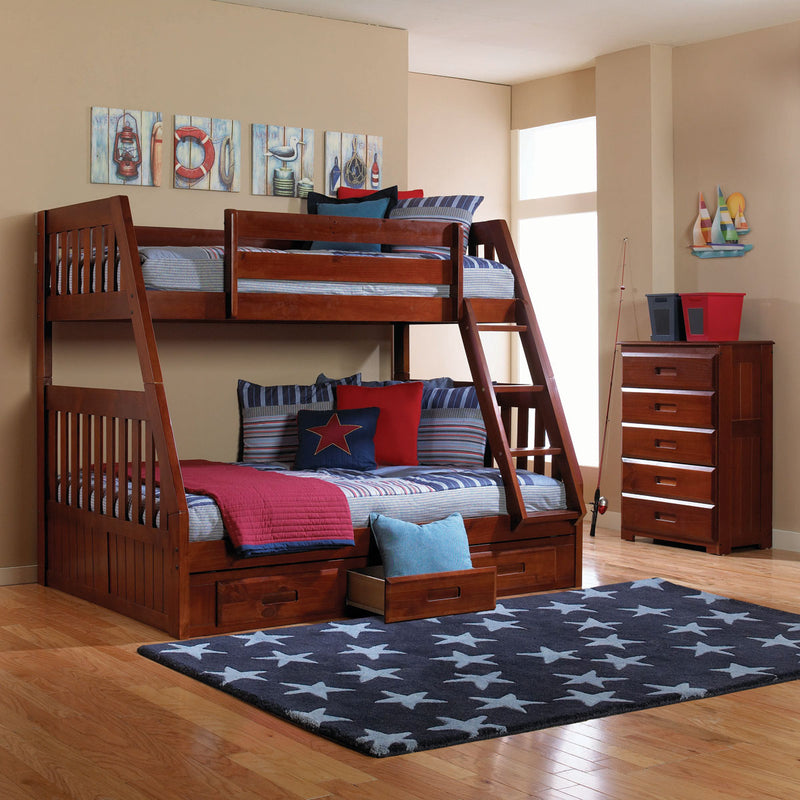 Twin/Full Merlot Bunk Bed Only