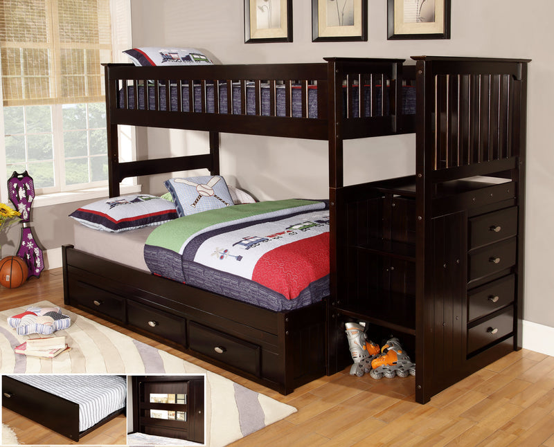 DS Twin/Full Staircase Bunk Bed