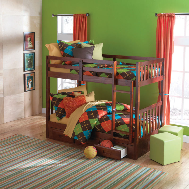 Twin over Twin Bunk Only (Drawers Sold Separate)