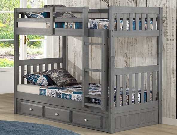 Twin/Twin Charcoal Bunk Bed Only