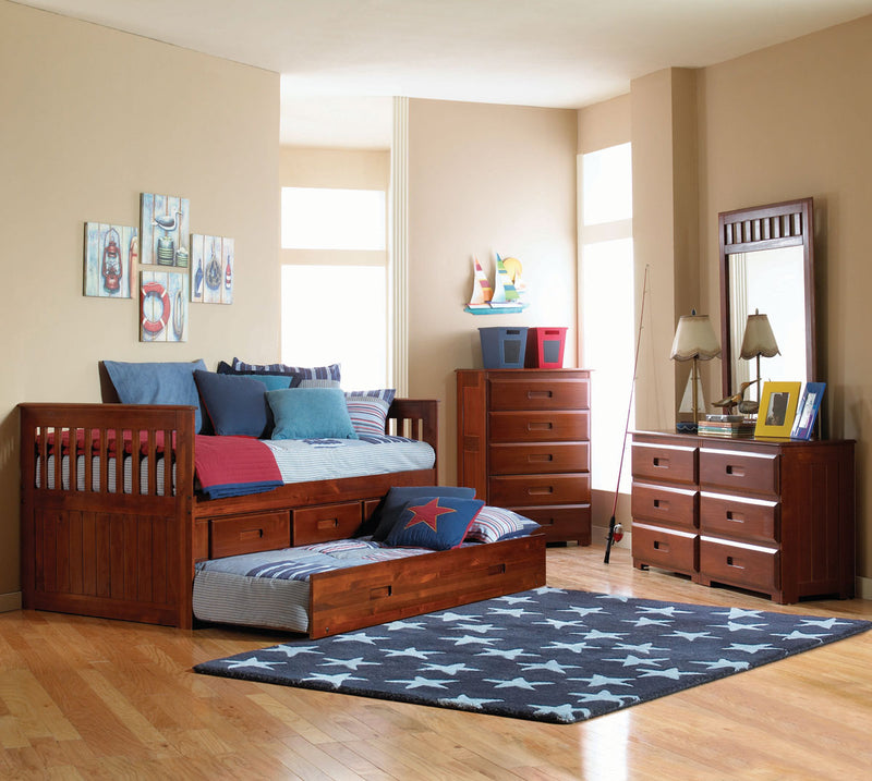 Twin Captain's or Captain's/Trundle Bed