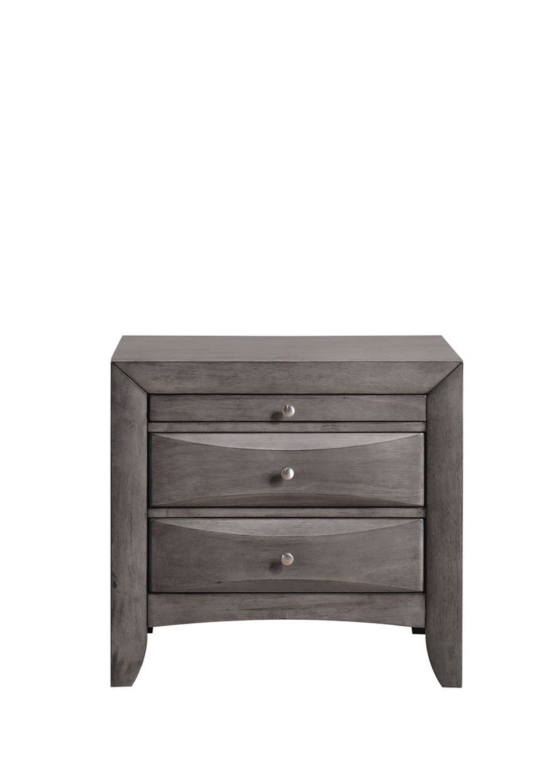 grey nightstand with drawers