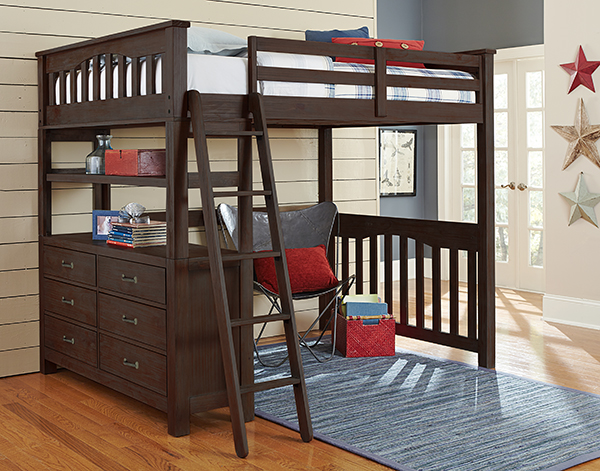 Full Highland Loft Bed - Espresso