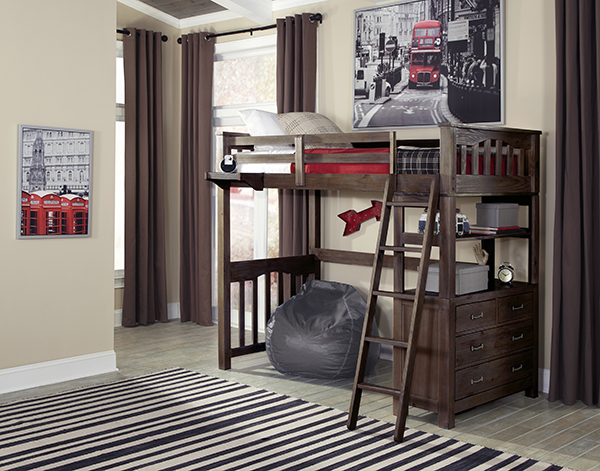Twin Highland Loft Bed - Espresso