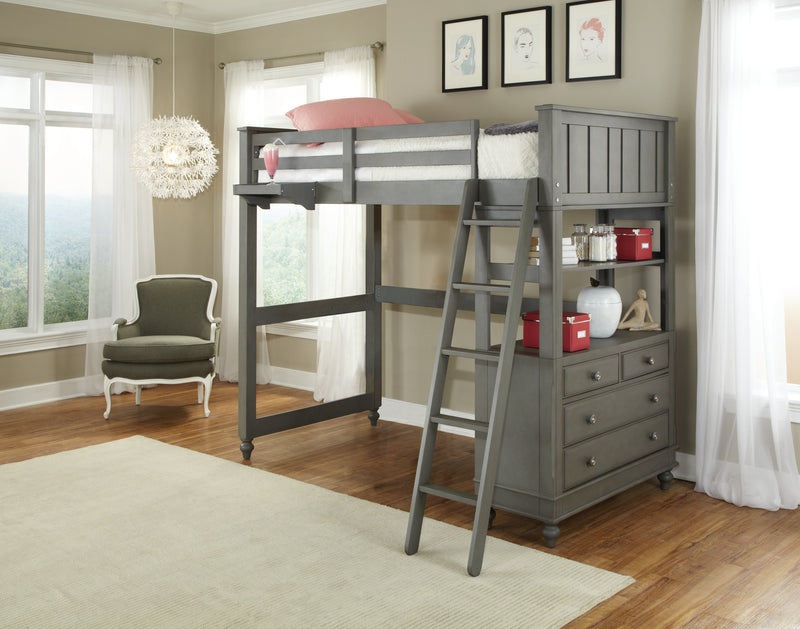 Twin Lakehouse Loft Bed - Gray