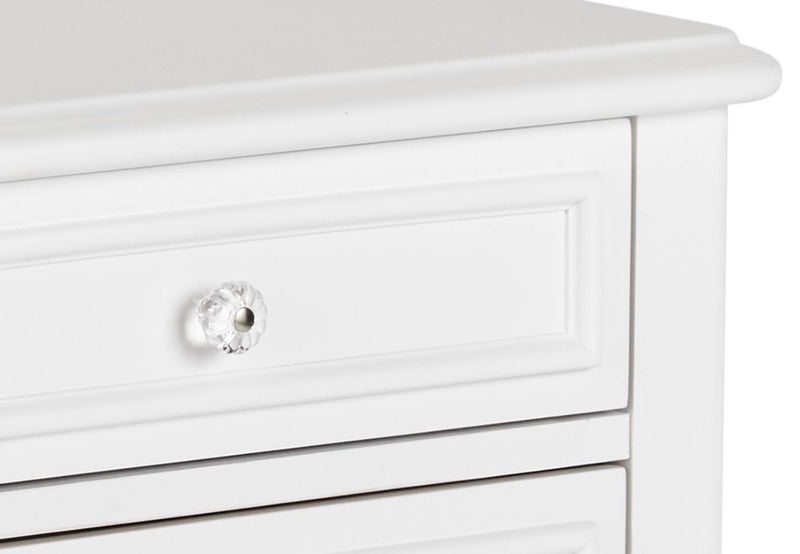 White nightstand detail