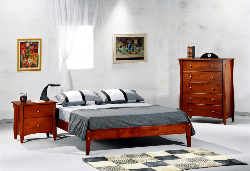 Twin Full Queen King Platform Bed in Cherry