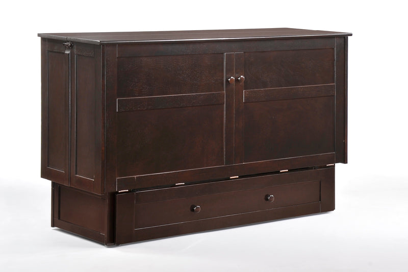 Queen Murphy Bed Chest in Chocolate