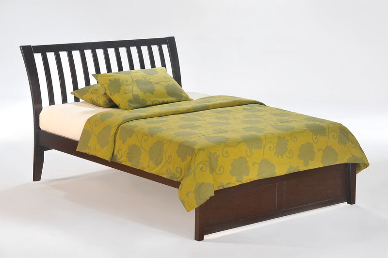 Twin Full Queen King Platform Bed in Chocolate