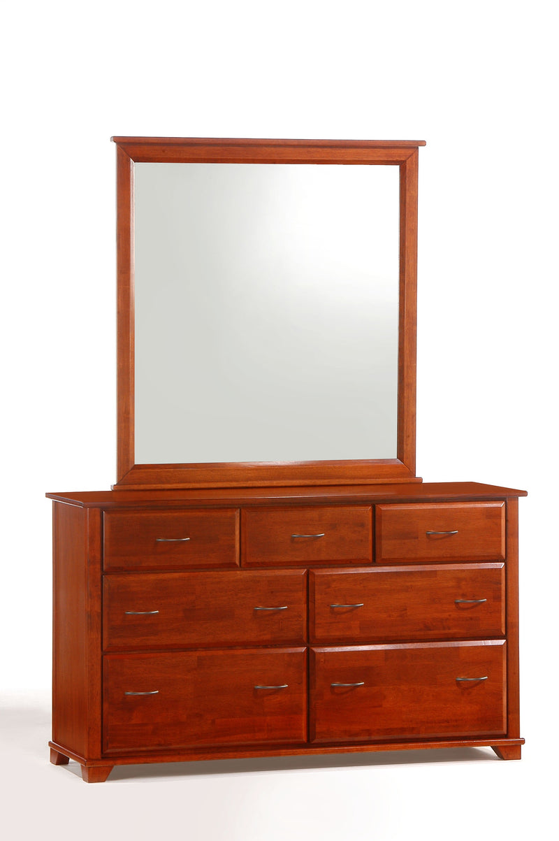 Dresser and Mirror in Cherry