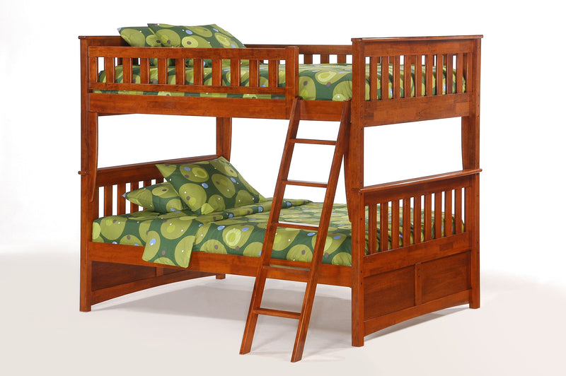 Full over Full Bunk Bed in Cherry