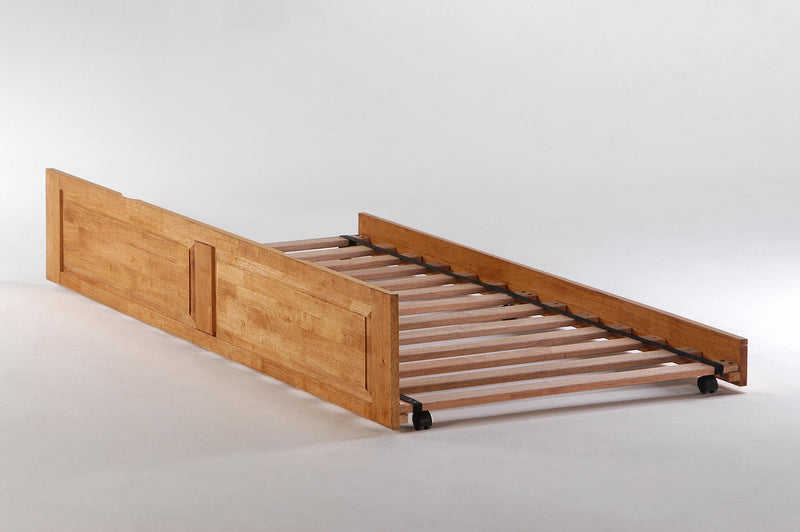 Optional Trundle Unit for Platform Bed in Oak