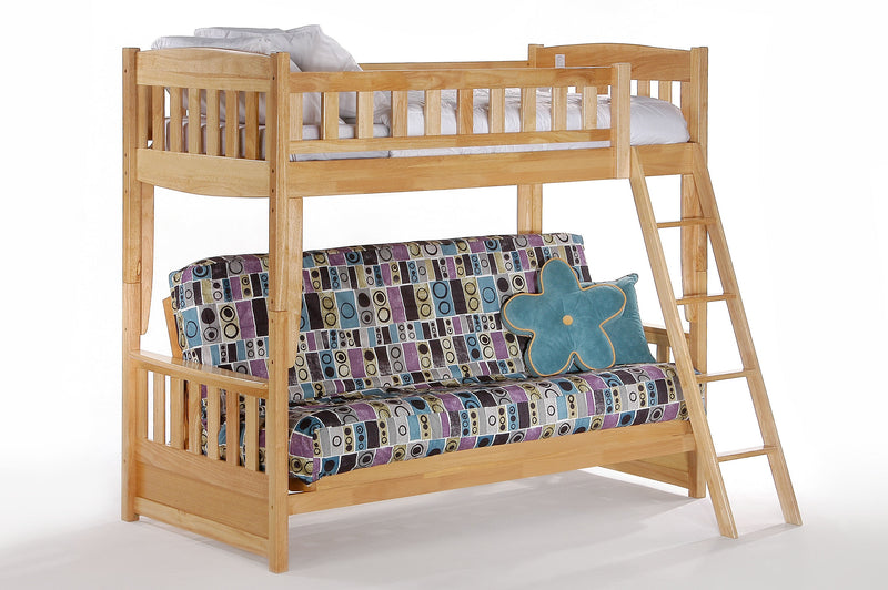 Futon Bunk Bed in Natural