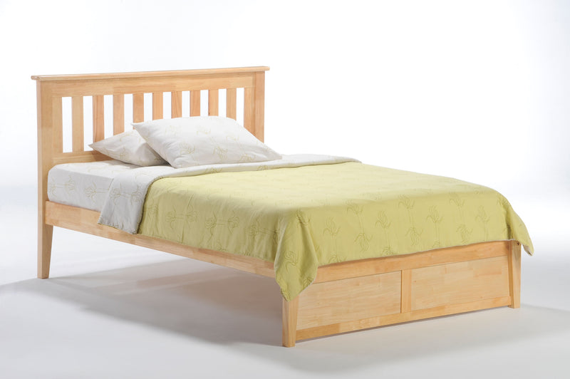 Twin Full Queen King Platform Bed in Natural