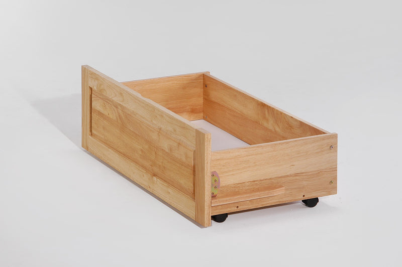 Optional Under Storage Drawers for Futon Bunk in Natural