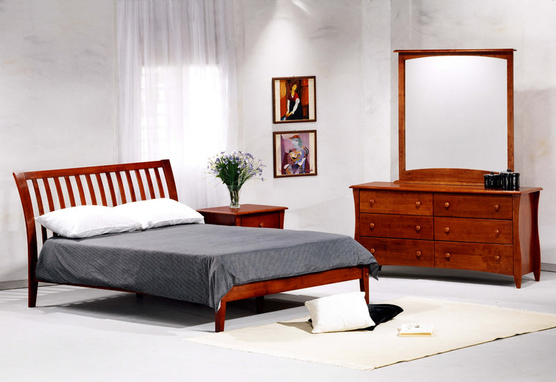 Twin Full Queen King Cherry Platform Bed in Cherry
