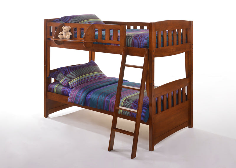 Optional Hook on Shelf for Bunk Bed in Cherry
