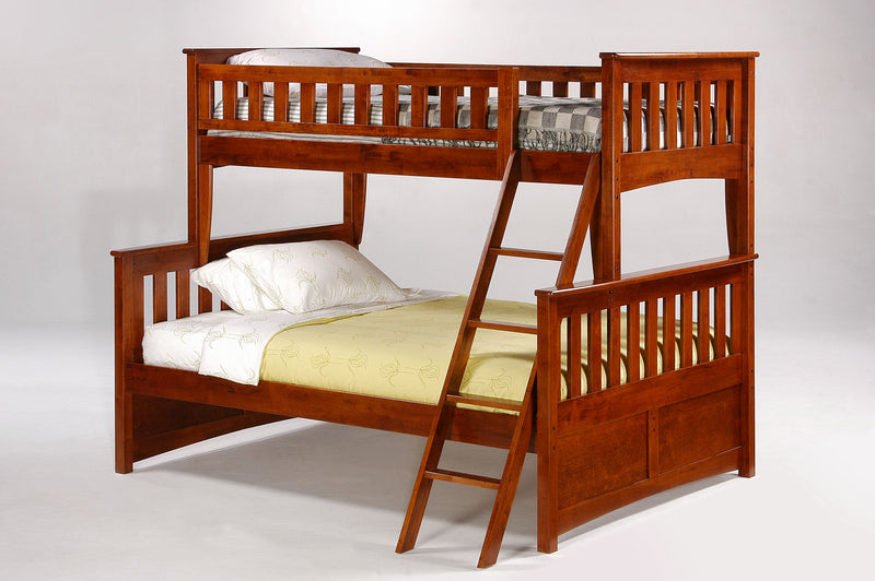 Twin/Full Bunk Bed in Cherry